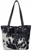 T-H3.3 BAG1157 Leather Bag with Cowhide Mixed Colors 40x28x11cm