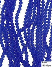 E-E2.3  Faceted Glass Beads 4mm About 1380pcs Blue