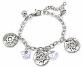 E-E20.5 B2053-012 S. Steel Bracelet Sun 14-17cm For Kids