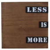 L-B2.1 Wooden Plate Less is More 30x30x3cm